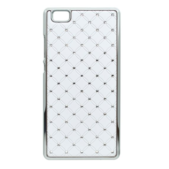 Puzdro s kryštálmi pre Huawei P8 Lite, White