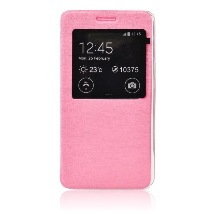Puzdro S-VIEW pre Sony Xperia M5 a M5 Dual, Pink