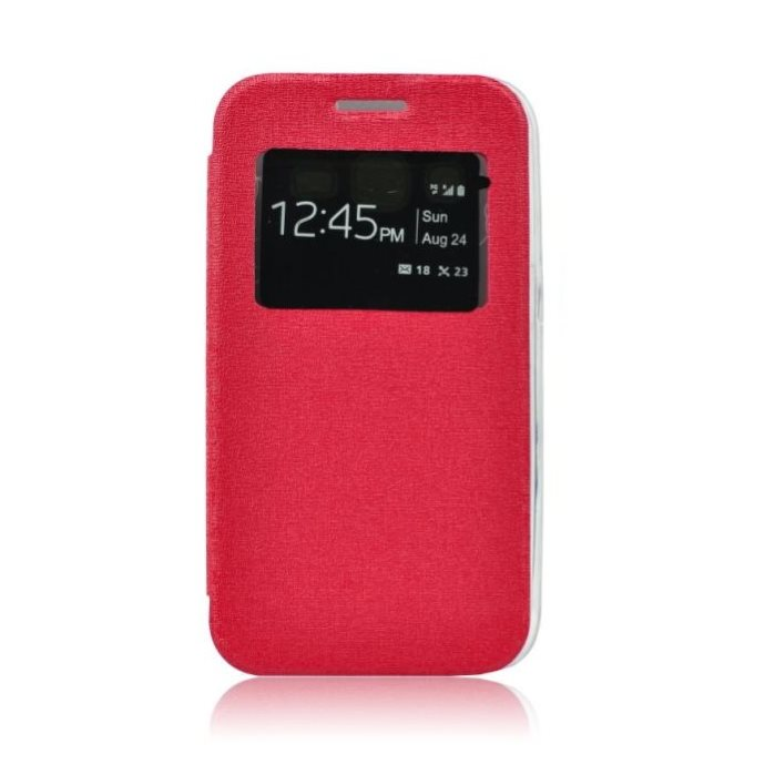 Puzdro S-VIEW pre Sony Xperia Z3 Compact - D5803, Red