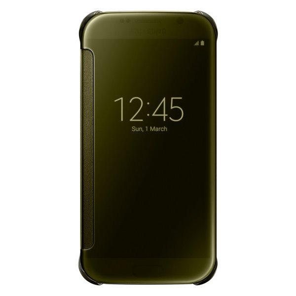 Puzdro Samsung Clear View Cover EF-ZG920B pre Samsung Galaxy S6 - G920F, Gold