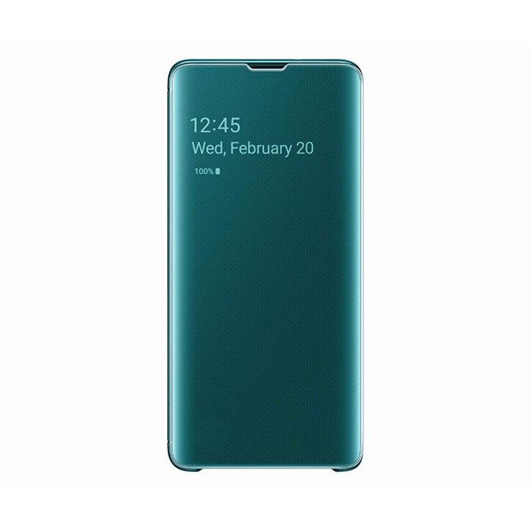 Puzdro Samsung Clear View Cover EF-ZG973CGE pre Samsung Galaxy S10 - G973F, Green