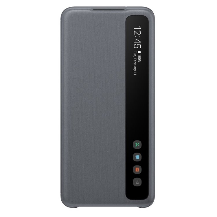 Puzdro Samsung Clear View Cover EF-ZG980CJE pre Samsung Galaxy S20 - G980F, Gray
