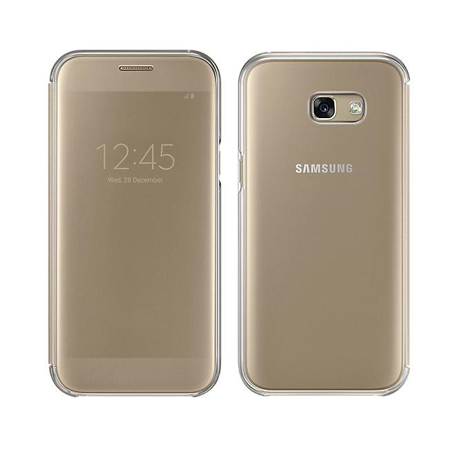 Puzdro Samsung Clear View EF-ZA520C pre Samsung Galaxy A5 2017 - A520F, Gold