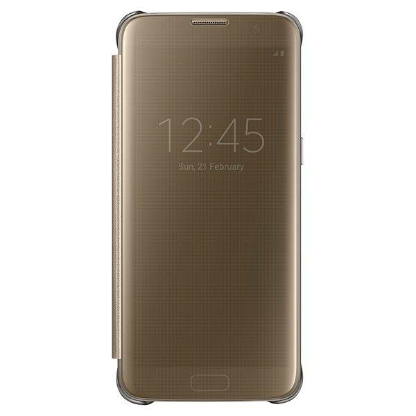 Puzdro Samsung Clear View EF-ZG935C pre Samsung Galaxy S7 Edge - G935F, Gold