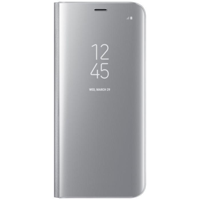 Puzdro Samsung Clear View EF-ZG955C pre Samsung Galaxy S8 Plus - G955F, Silver