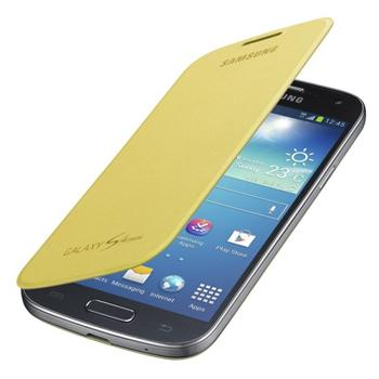Puzdro Samsung EF-FI919BY pre Samsung Galaxy S4 Mini - i9195 a i9190, Samsung Galaxy S4 Mini VE - i9195i, Yellow