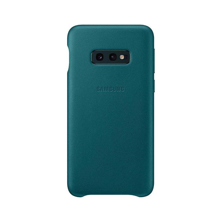 Puzdro Samsung Leather Cover EF-VG970LGE pre Samsung Galaxy S10e - G970F, Green EF-VG970LGEGWW