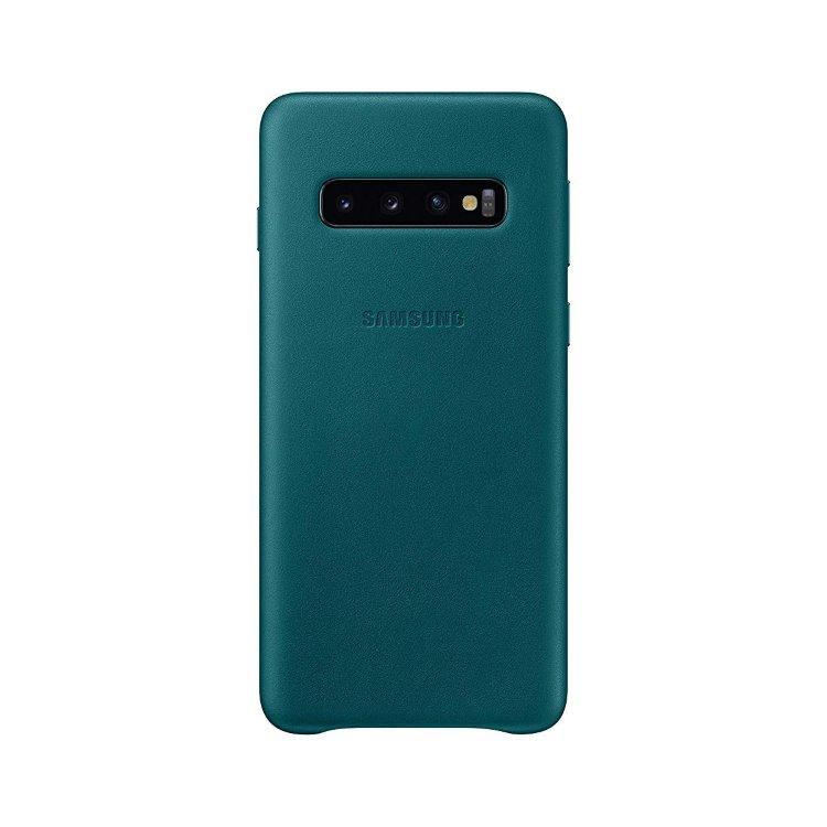 Puzdro Samsung Leather Cover EF-VG973LGE pre Samsung Galaxy S10 - G973F, Green EF-VG973LGEGWW