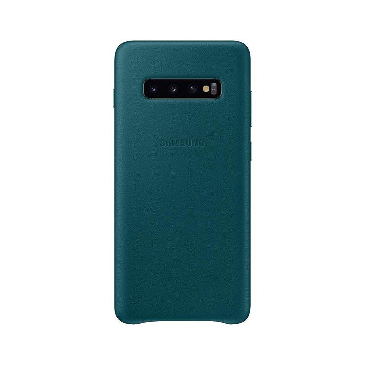 Puzdro Samsung Leather Cover EF-VG975LGE pre Samsung Galaxy S10 Plus - G975F, Green EF-VG975LGEGWW
