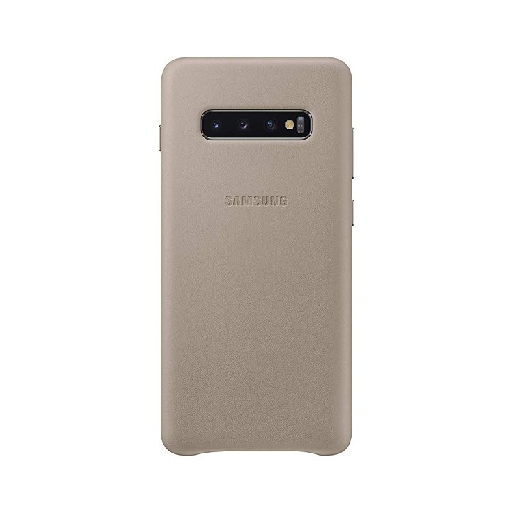 Puzdro Samsung Leather Cover EF-VG975LJE pre Samsung Galaxy S10 Plus - G975F, Grey