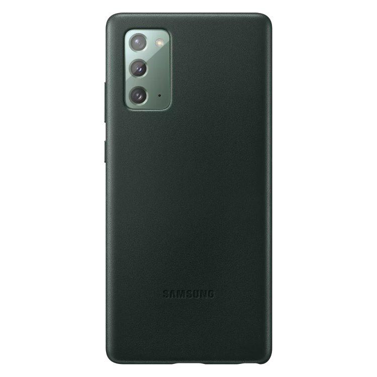 Puzdro Samsung Leather Cover pre Galaxy Note 20 - N980F, green (EF-VN980LGE) EF-VN980LGEGEU