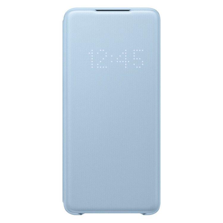 Puzdro Samsung LED View Cover EF-NG985PLE pre Samsung Galaxy S20 Plus - G985F, Sky Blue EF-NG985PLEGEU
