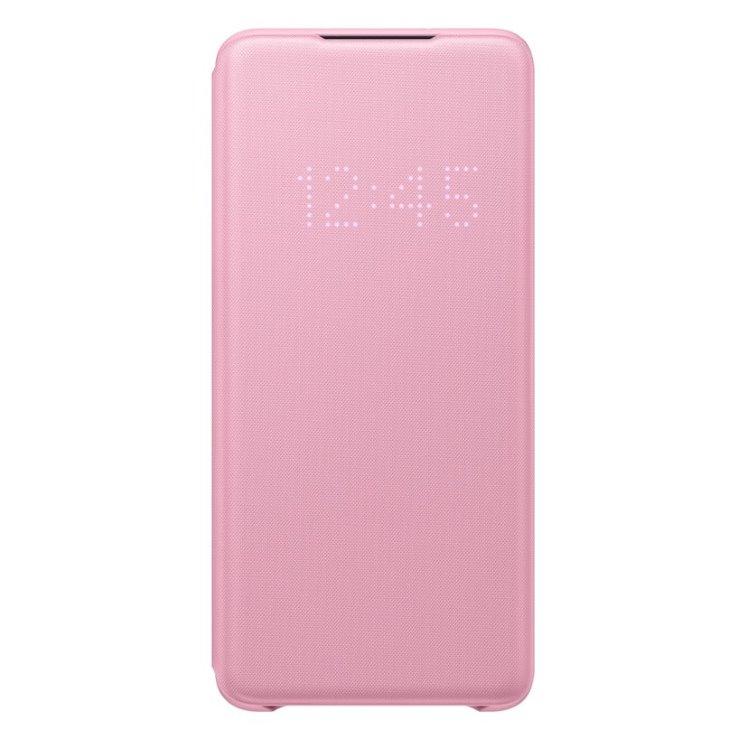 Puzdro Samsung LED View Cover EF-NG985PPE pre Samsung Galaxy S20 Plus - G985F, Pink EF-NG985PPEGEU