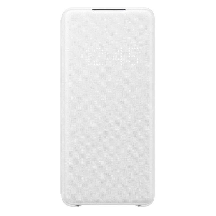 Puzdro Samsung LED View Cover EF-NG985PWE pre Samsung Galaxy S20 Plus - G985F, White EF-NG985PWEGEU