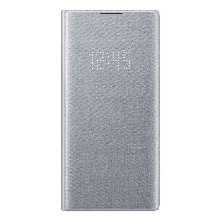 Puzdro Samsung LED View Cover EF-NN975PSE pre Samsung Galaxy Note 10 Plus - N975F, Silver EF-NN975PSEGWW