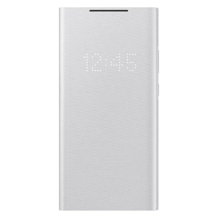 Puzdro Samsung LED View Cover pre Galaxy Note 20 Ultra 5G - N986B, white silver (EF-NN985PSE)