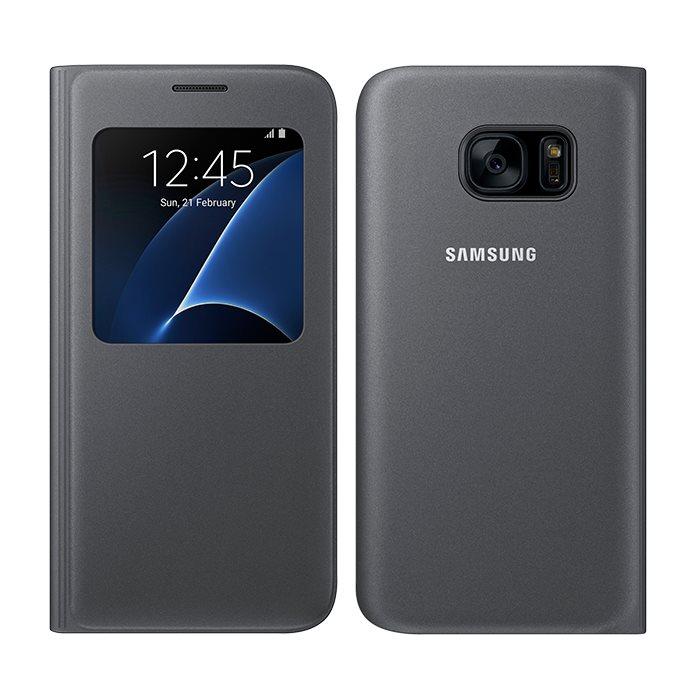 Puzdro Samsung S-View EF-CG930P pre Samsung Galaxy S7 - G930F, Black