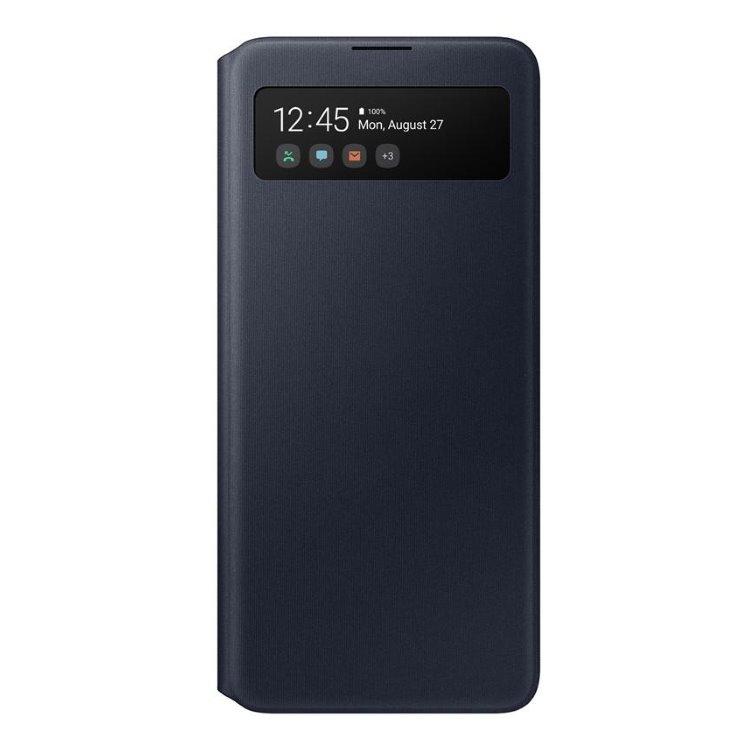 Puzdro Samsung S-View Wallet Cover EF-EA51PBE pre Samsung Galaxy A51 - A515F, Black EF-EA515PBEGEU