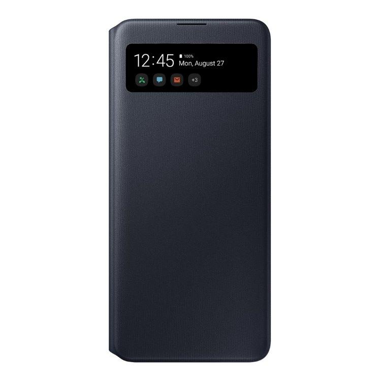 Puzdro Samsung S-View Wallet Cover EF-EA71PBE pre Samsung Galaxy A71 - A715F, Black