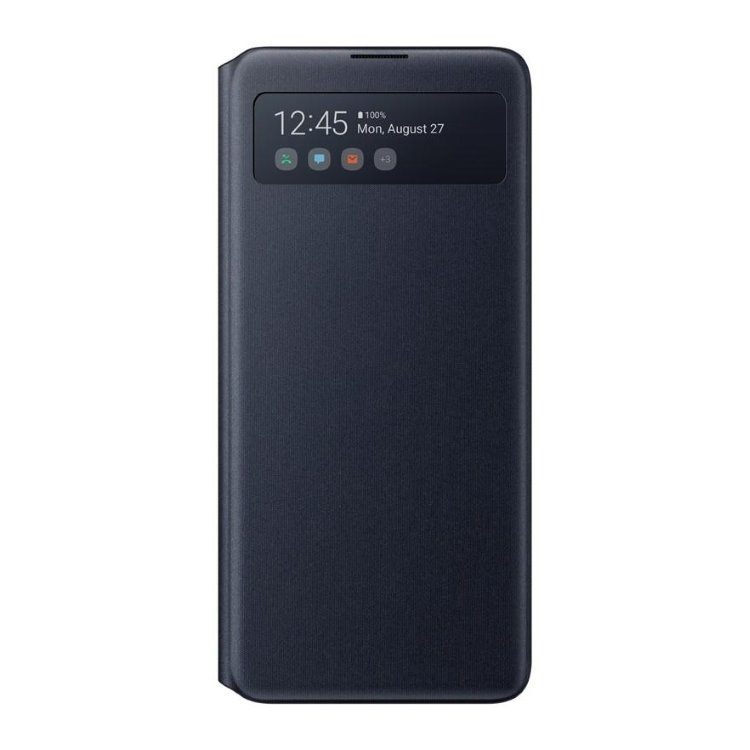 Puzdro Samsung S-View Wallet Cover EF-EN770PBE pre Samsung Galaxy Note 10 Lite - N770F, Black