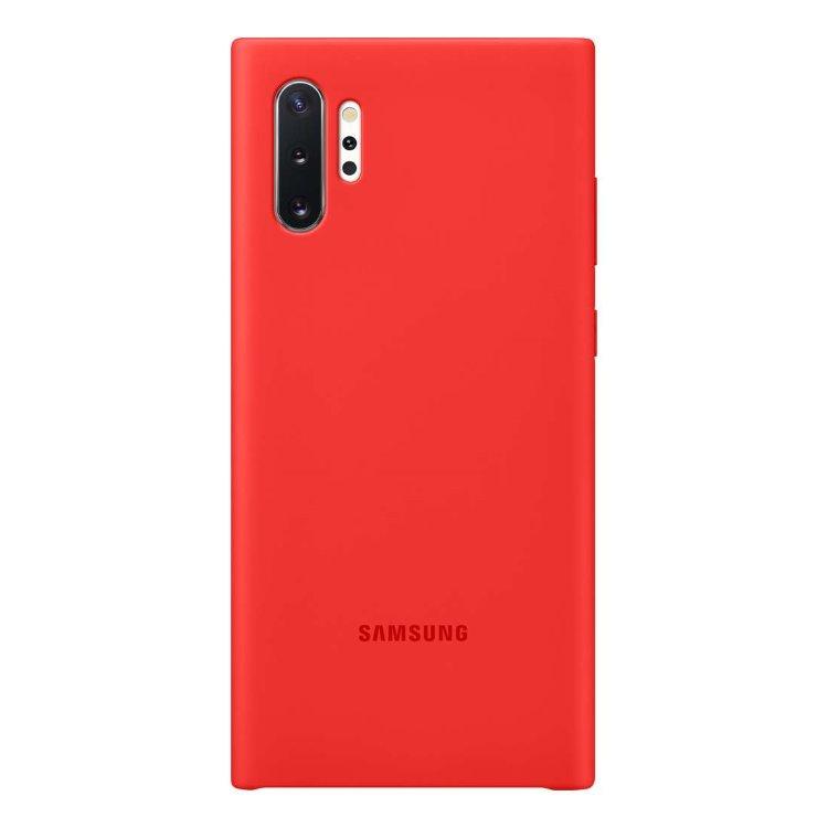 Puzdro Samsung Silicone Cover EF-PN975TRE pre Samsung Galaxy Note 10 Plus - N975F, Red EF-PN975TREGWW