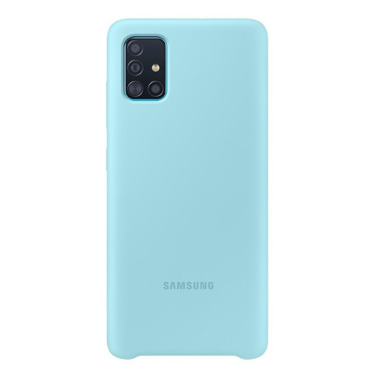 Puzdro Samsung Silicone Cover EF-PA515TLE pre Samsung Galaxy A51 - A515F, Blue EF-PA515TLEGEU