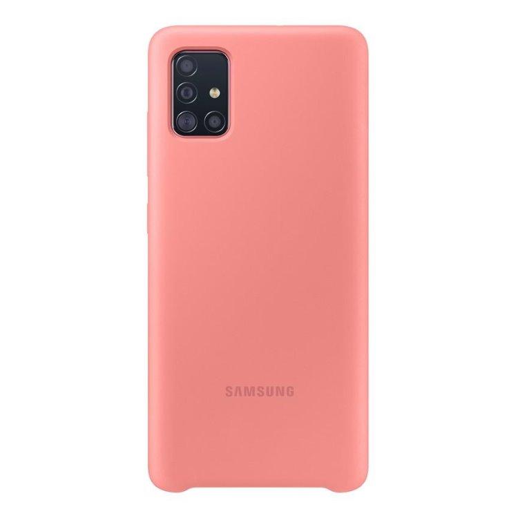 Puzdro Samsung Silicone Cover EF-PA515TPE pre Samsung Galaxy A51 - A515F, Pink EF-PA515TPEGEU
