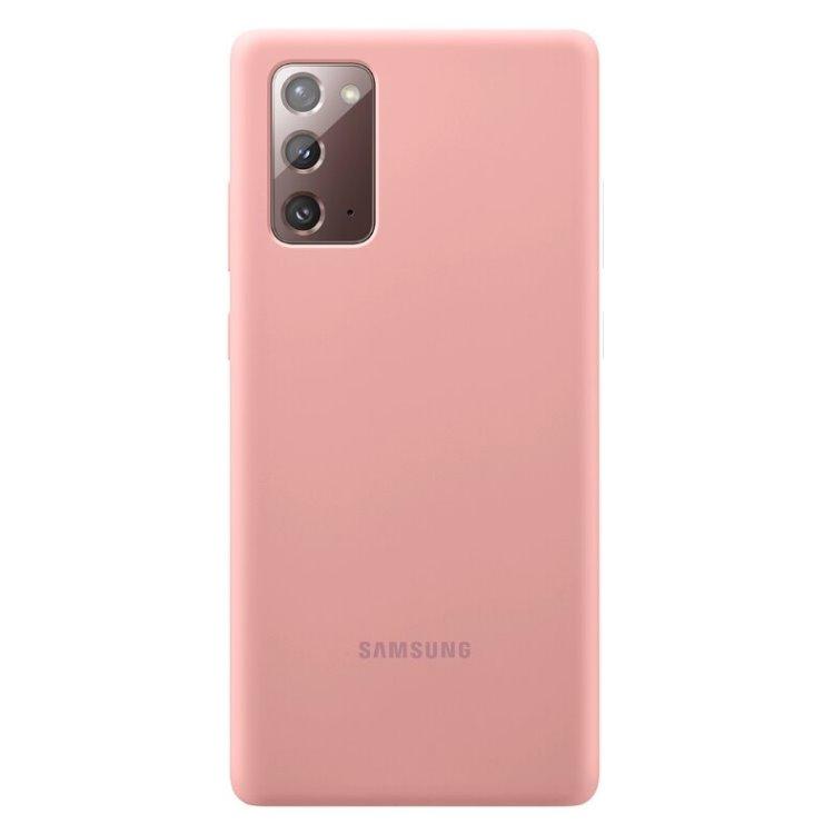 Puzdro Samsung Silicone Cover pre Galaxy Note 20 - N980F, copper brown (EF-PN980TAE ) EF-PN980TAEGEU