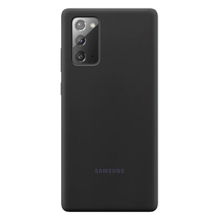 Puzdro Samsung Silicone Cover pre Galaxy Note 20 - N980F, black (EF-PN980TBE)