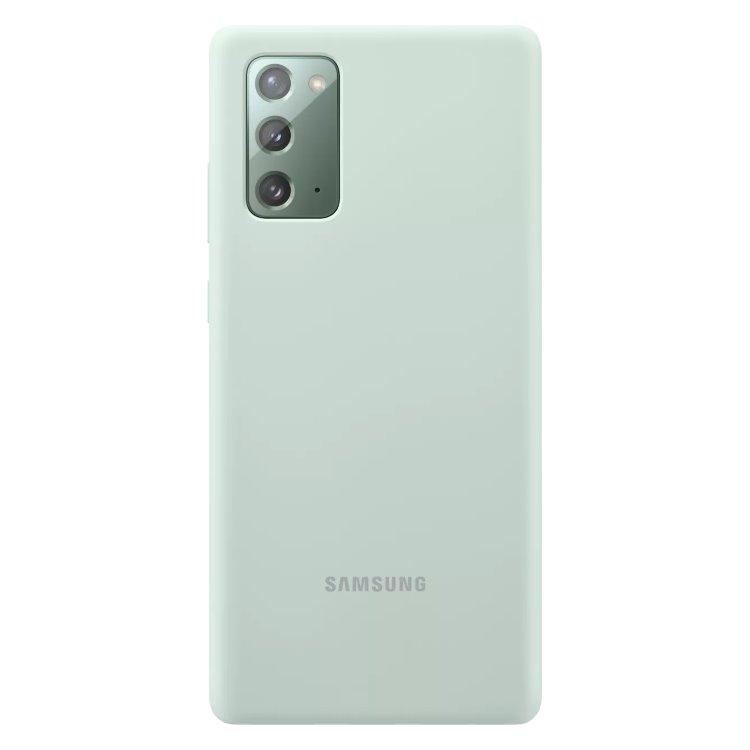 Puzdro Samsung Silicone Cover pre Galaxy Note 20 - N980F, mint (EF-PN980TME ) EF-PN980TMEGEU