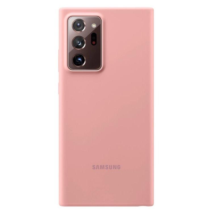 Puzdro Samsung Silicone Cover pre Galaxy Note 20 Ultra 5G - N986B, copper brown (EF-PN985TAE)