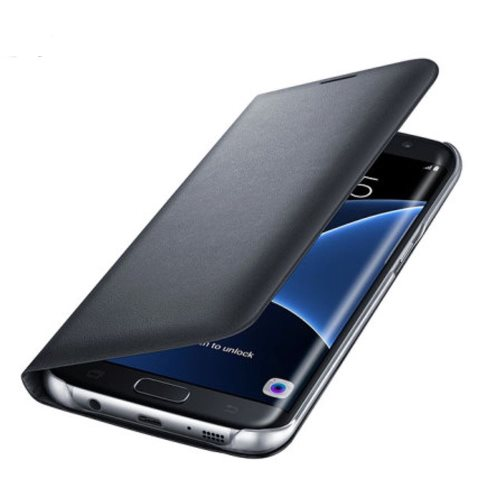 Puzdro Samsung Wallet EF-WG935P pre Samsung Galaxy S7 Edge - G935F, Black