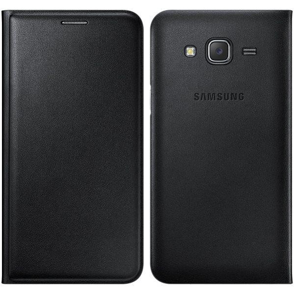 Puzdro Samsung Wallet EF-WJ320P pre Samsung Galaxy J3 (2016) - J320F, Black