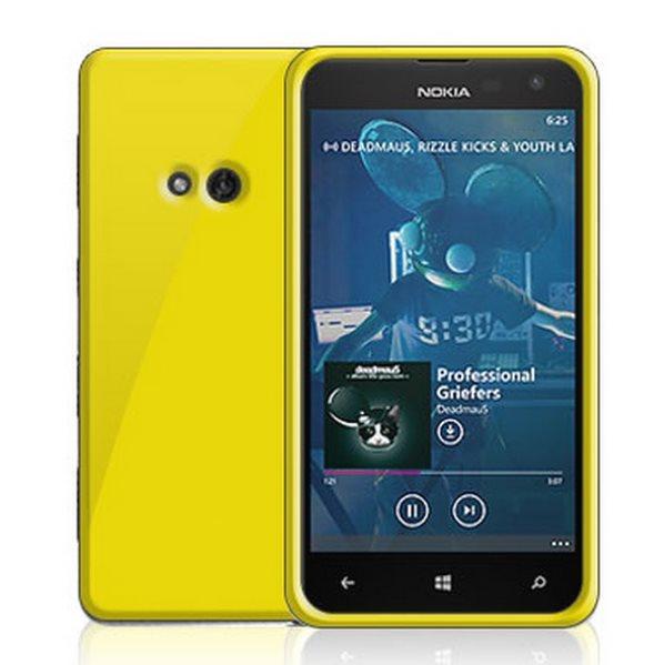 Puzdro silikonové Celly Premium GelSkin pre Nokia Lumia 625, Yellow
