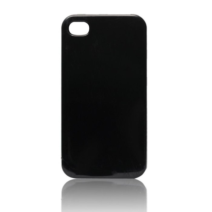 Puzdro silikonov� Jelly Case pre Apple iPhone 4 a 4S | Black