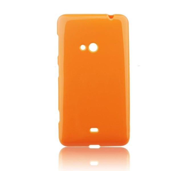 Puzdro silikonové Jelly Case pre Nokia Lumia 625, Orange