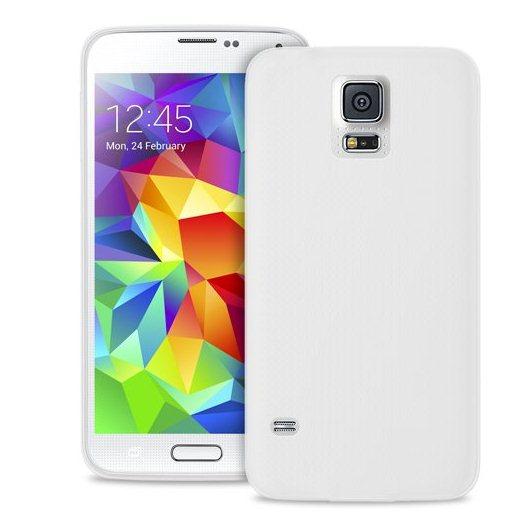 Puzdro silikonové PURO pre Samsung Galaxy S5 Mini - G800, Transparent