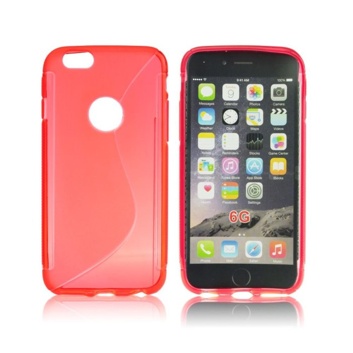 Puzdro silikonové S-TYPE pre Apple iPhone 6 a 6S, Red