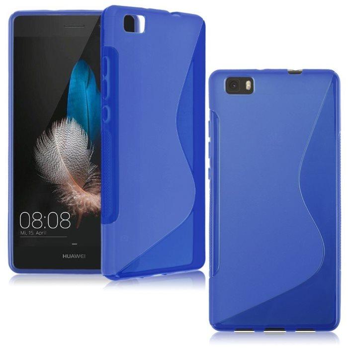 Puzdro silikonové S-TYPE pre Huawei Ascend P8 Lite, Blue