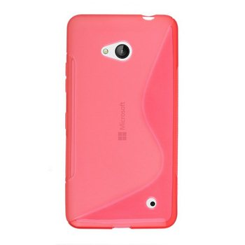 Puzdro silikonové S-TYPE pre Microsoft Lumia 640, Microsoft Lumia 640 LTE, Red
