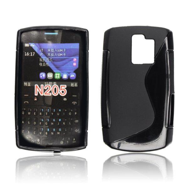 Puzdro silikonové S-TYPE pre Nokia Asha 205, Black