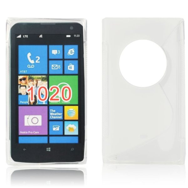 Puzdro silikonové S-TYPE pre Nokia Lumia 1020, Transparent