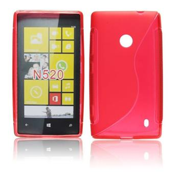Puzdro silikonové S-TYPE pre Nokia Lumia 520 a Nokia Lumia 525, Purple