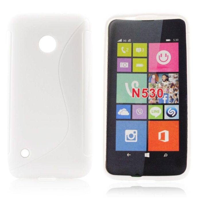 Puzdro silikonové S-TYPE pre Nokia Lumia 530, Transparent
