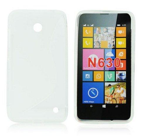 Puzdro silikonové S-TYPE pre Nokia Lumia 630 a 635, Clear