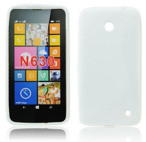 Puzdro silikonové S-TYPE pre Nokia Lumia 630 a 635, White
