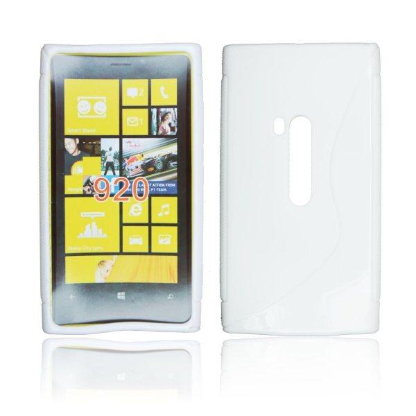 Puzdro silikonové S-TYPE pre Nokia Lumia 920, White