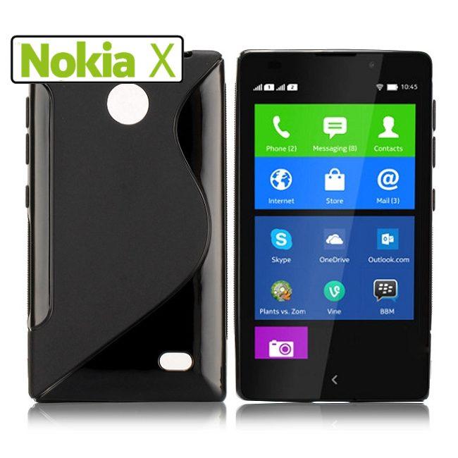 Puzdro silikonové S-TYPE pre Nokia X a Nokia X+, Black