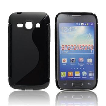 dfa859a6b Puzdro silikonové S-TYPE pre Samsung Galaxy Ace 4 - G357, Black-