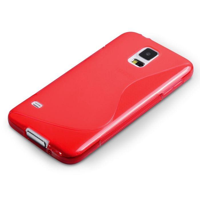Puzdro silikonové S-TYPE pre Samsung Galaxy S5 Mini - G800, Red